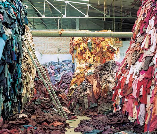 Mass produced clothing eventually ends up in pile such as these.