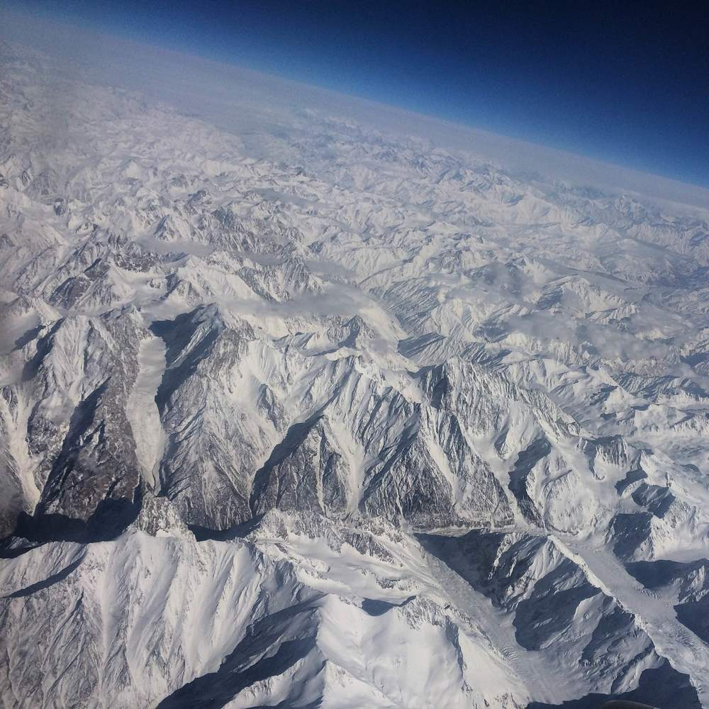Somewhere over Kyrgyzstan