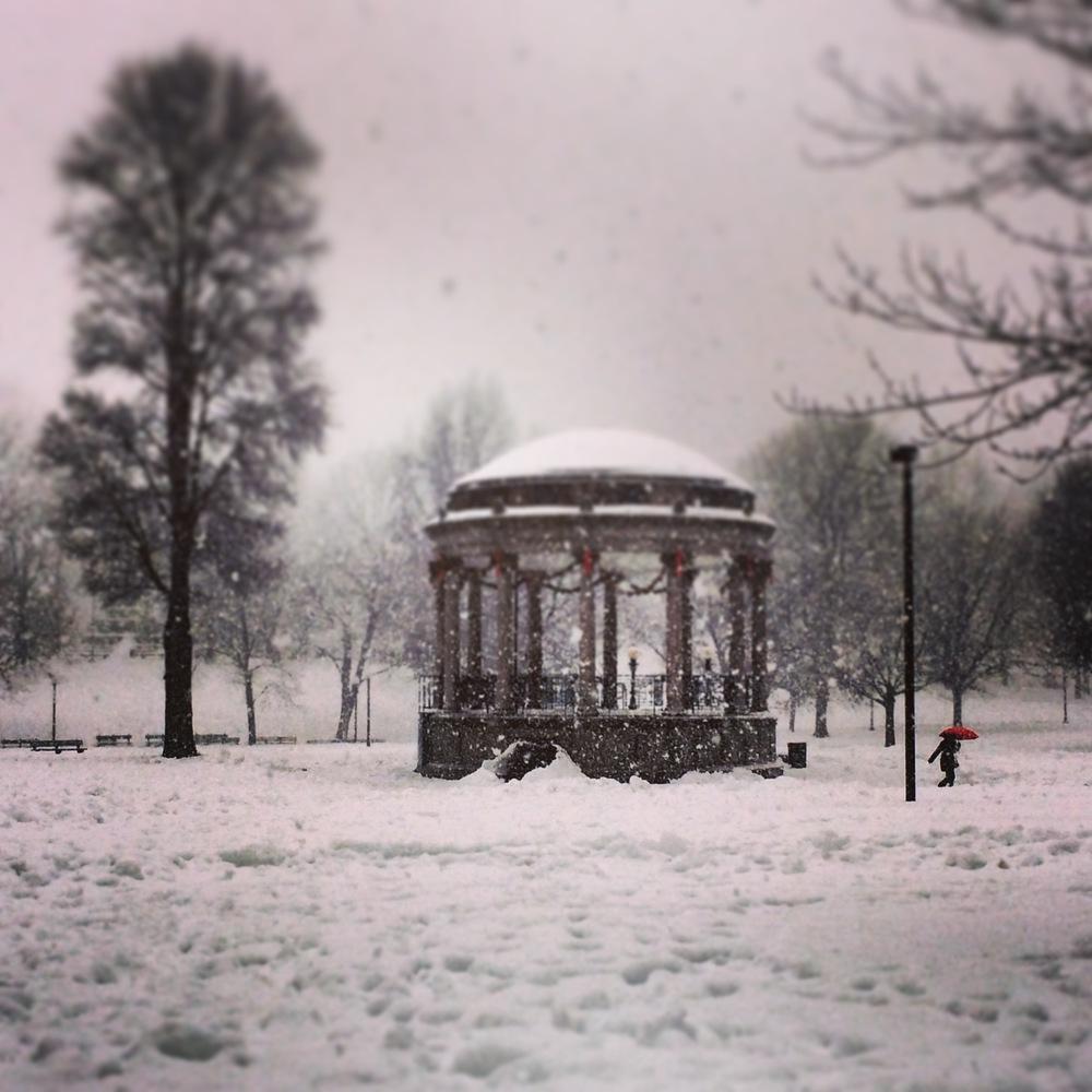 Boston w zeszłym roku, stanowczomniej zaśnieżony niż w tym roku