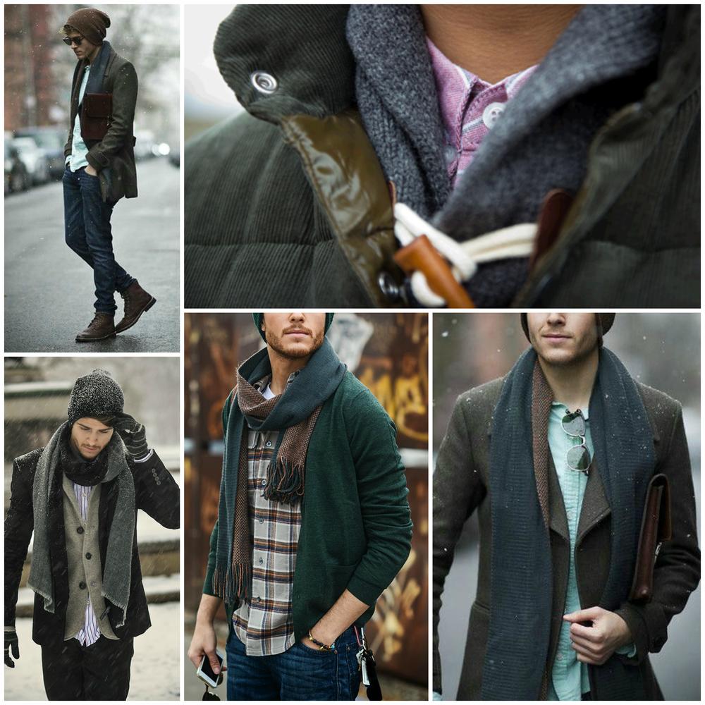 Overcoats, Fair Isle Sweaters, Knit Caps, Flannels, Heavy Scarves, Tweed Blazers,Wool Ties & Bow Ties.