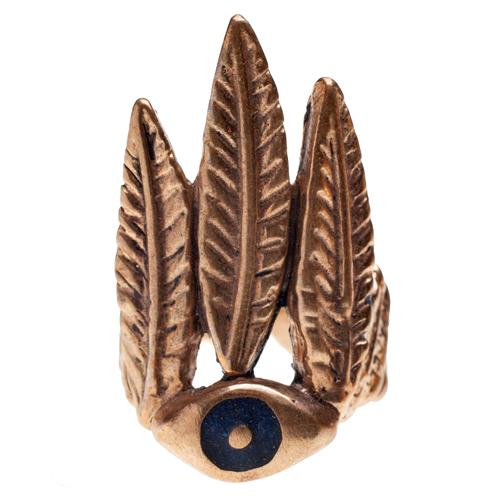 Peyote Ring with Lapis Inlay