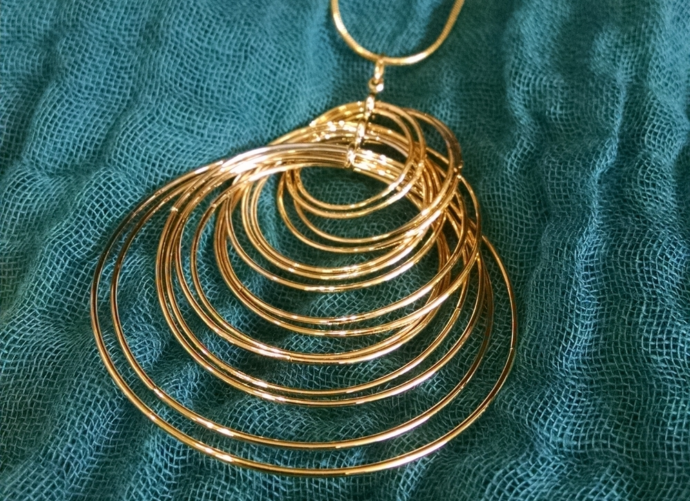 Kinetic Motion Necklace in 14kt gold ($52)