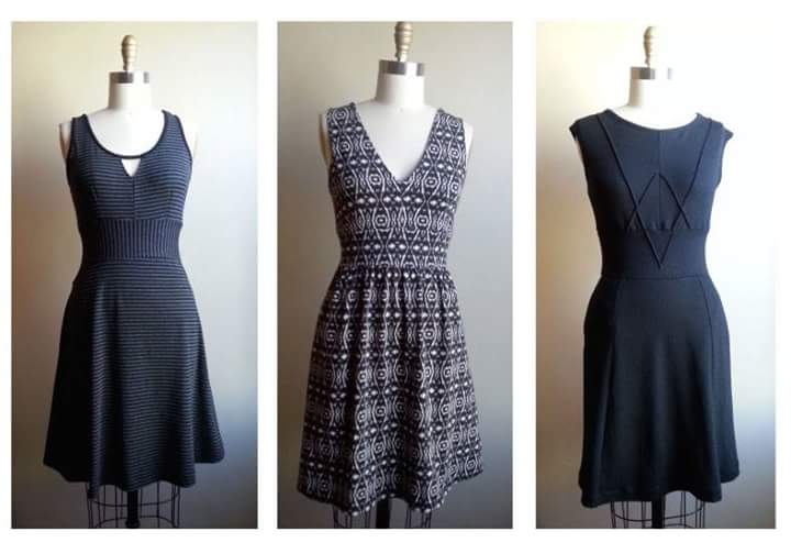 Studio pic from Susan at UNA. Hot off the machines! (Sizes XS-L, prices range from $158 to $178.)