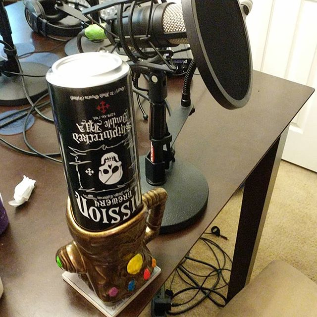 Must be a Tuesday night.  #infinitywar #infinitygauntlet #beer #podcast