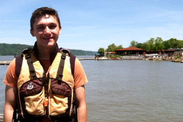 Nick Tyson enjoyed his debut paddle on the Hudson.