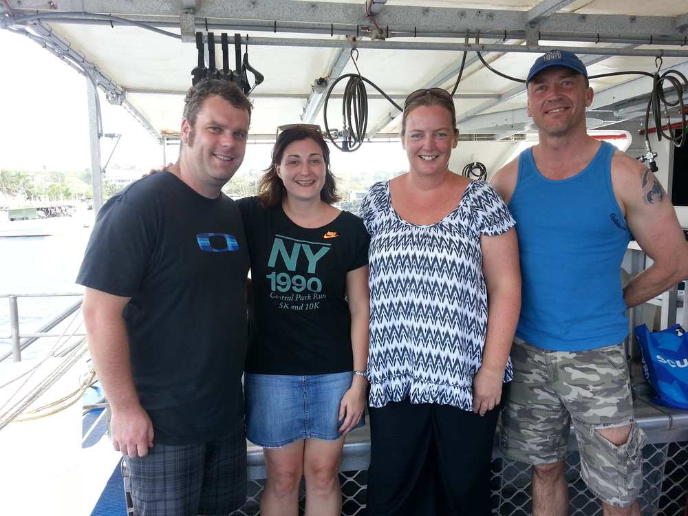 Our guests enjoying their time on board the MV Solomon Star.