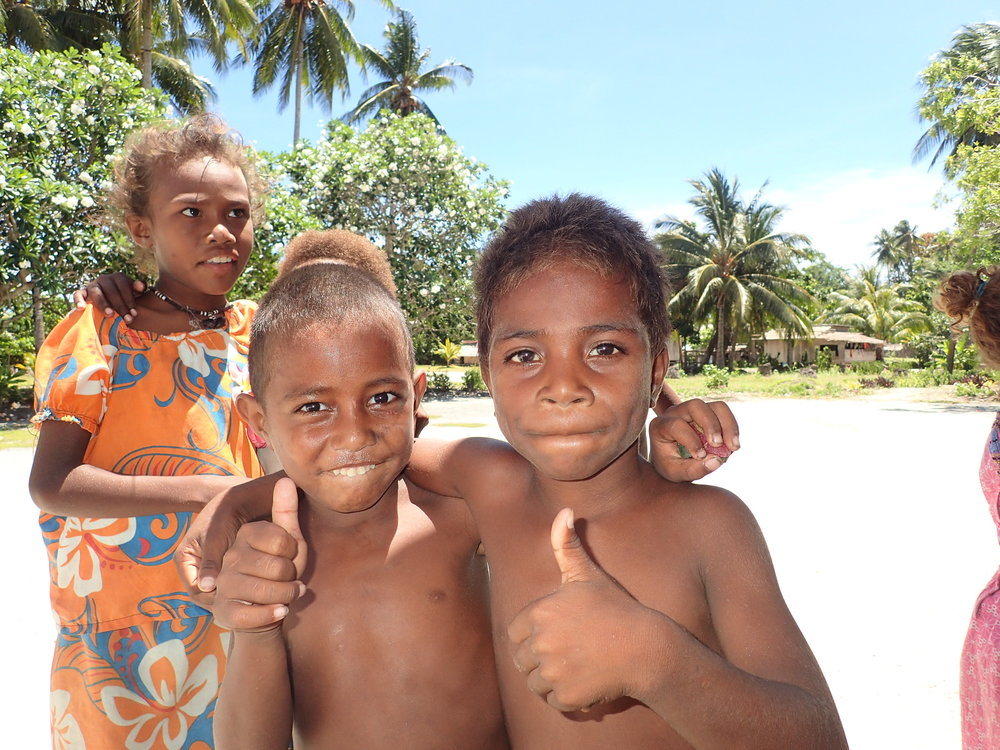 Local pikikinis at Karamulon Village in Solomon Islands
