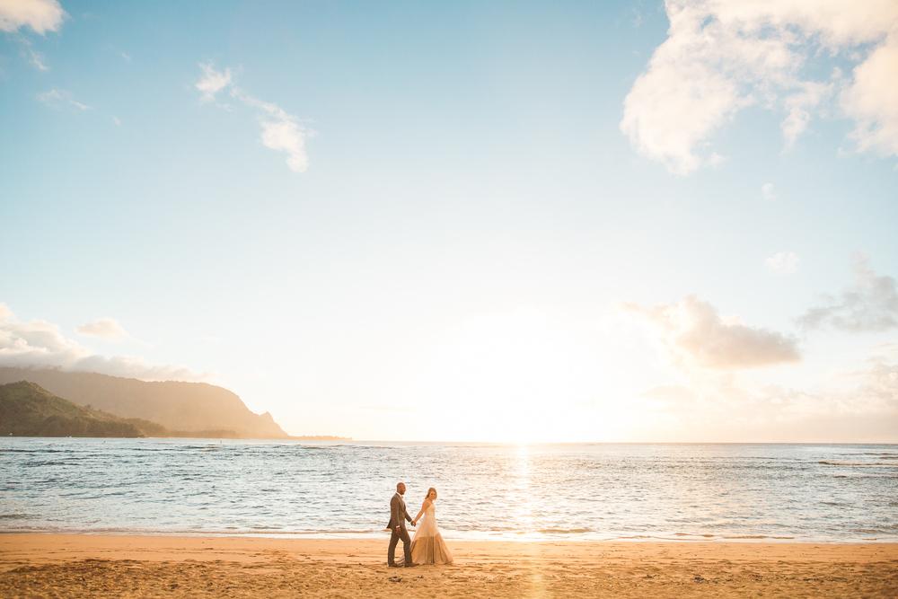 Breath Taking Views at this Elopement on Kauai