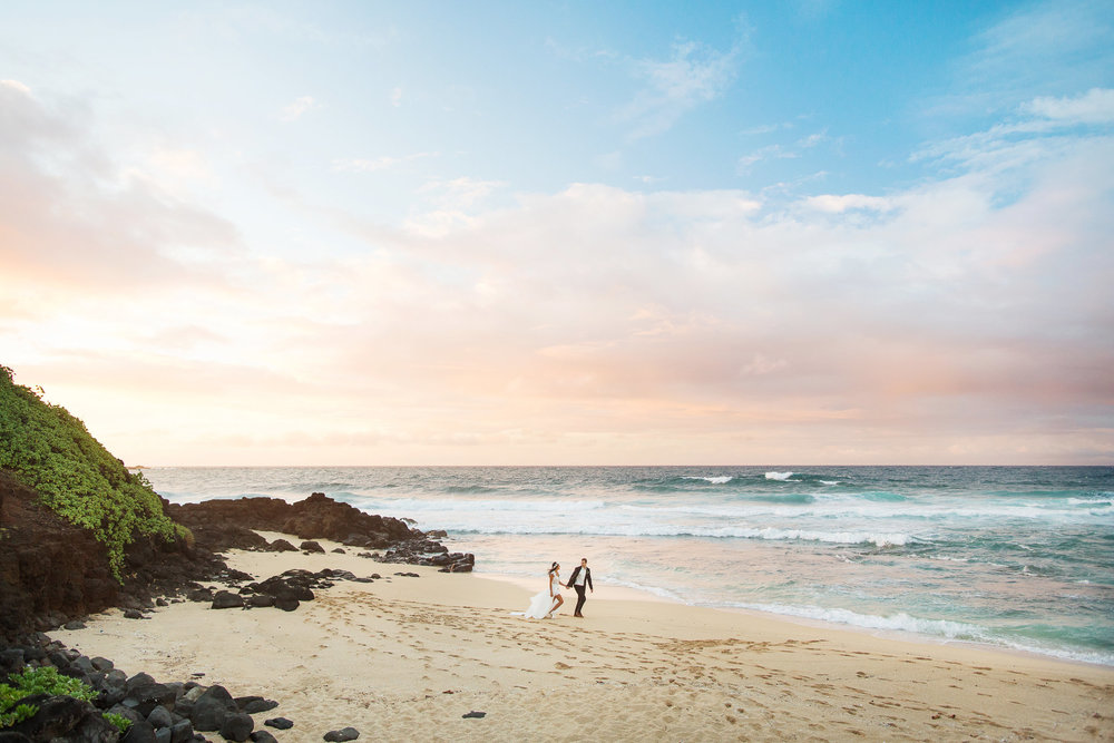 A Beautiful Hawaii Elopement at Sunset