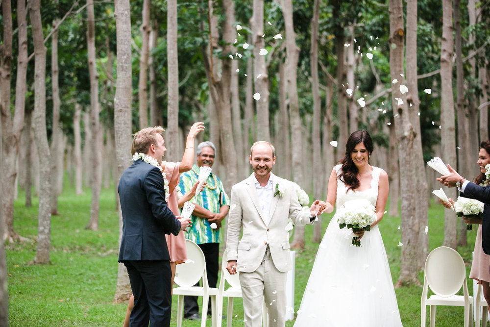 Guests Tossed Petals for the Couple's Exit at this Elopement