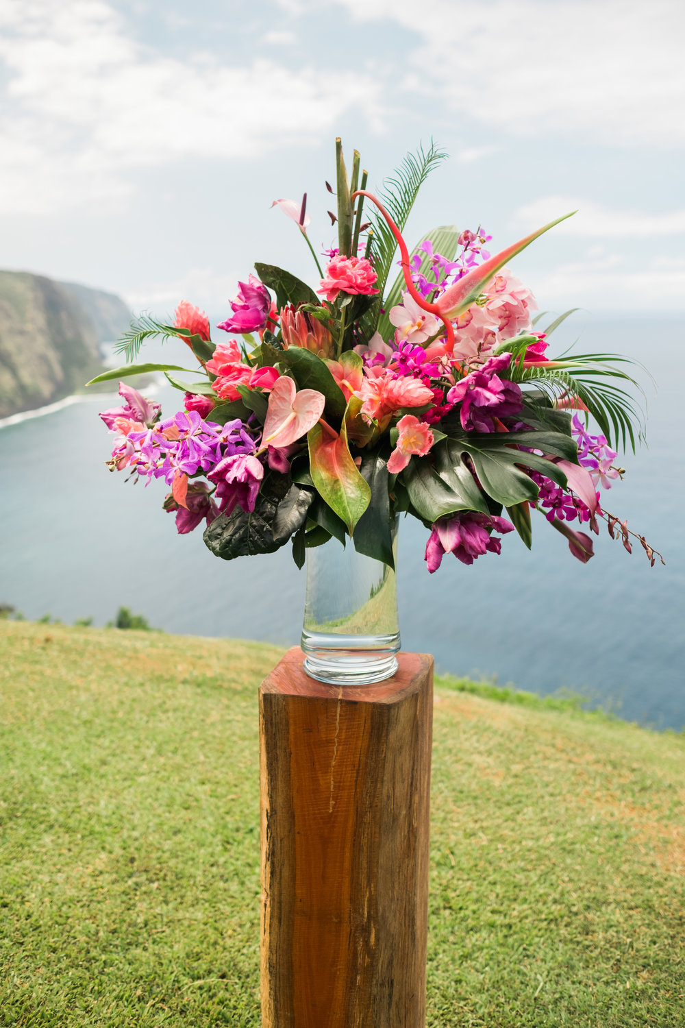 Tropical Arrangement of Orchids, Anthurium, and Birds of Paradise