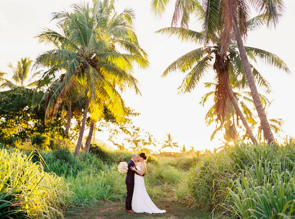 Hawaii Elopement with a Breathtaking Sunset Burning the Background