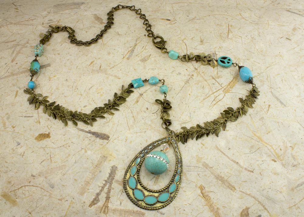 Happy Peaceful Turquoise