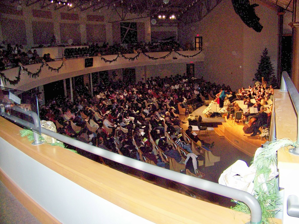 Audience enjoying the concert