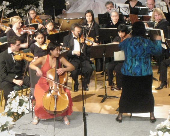 Courtney Lin Kaita performing Elgar Cello Concerto