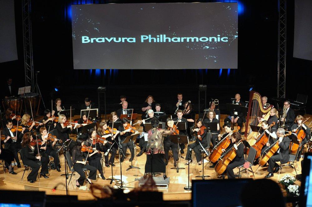 Orchestra performing Rimsky-Korsakov Scheherazade