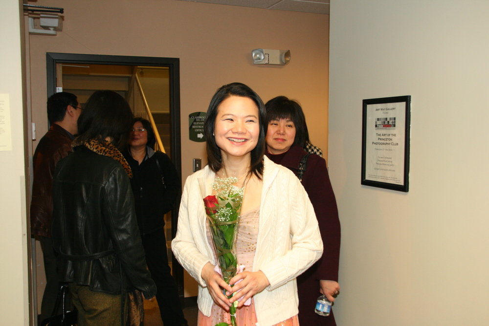 Pianist Stella Xu is pleased with her performance