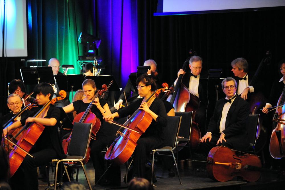 Cello section principal Courtney Kaita leading the fabulous section