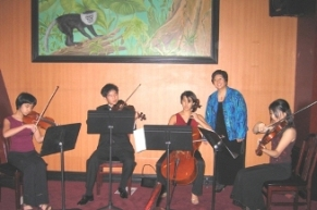 String Quartet Performance (Left to Right): Constance Lin Kaita, Taylor Lee, Courtney Lin Kaita, Jennifer Hsu