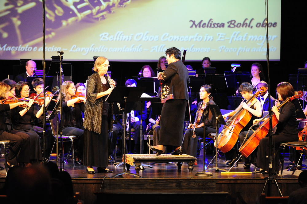 Melissa Bohl serenades the audience with Bellini