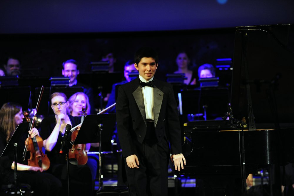 Pianist Matthew Eng takes a bow