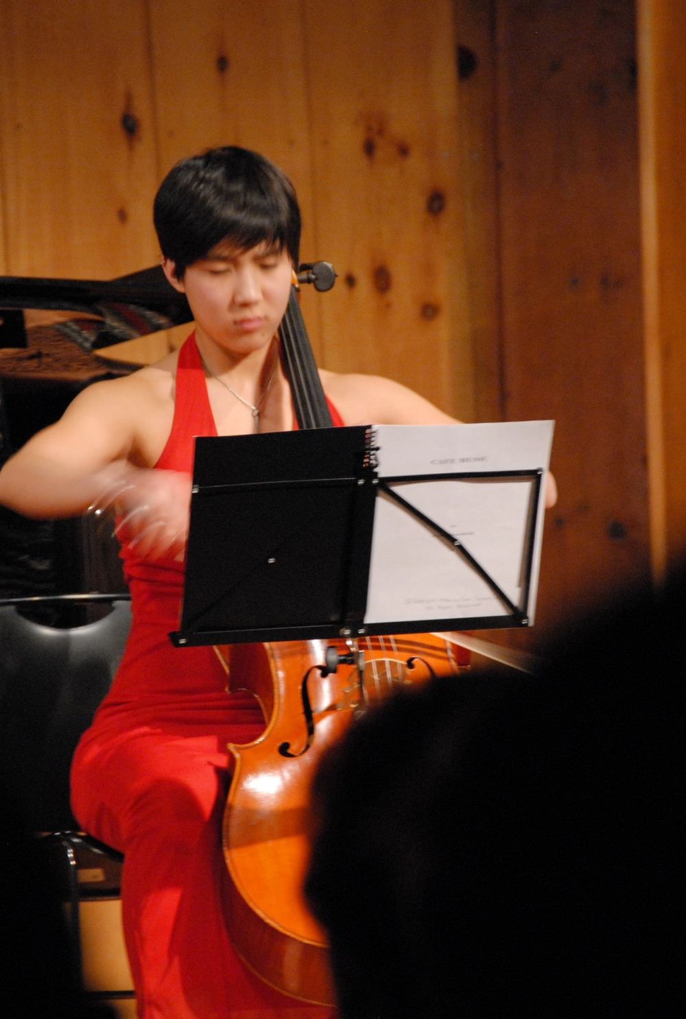 Cellist Courtney Kaita performs with soul