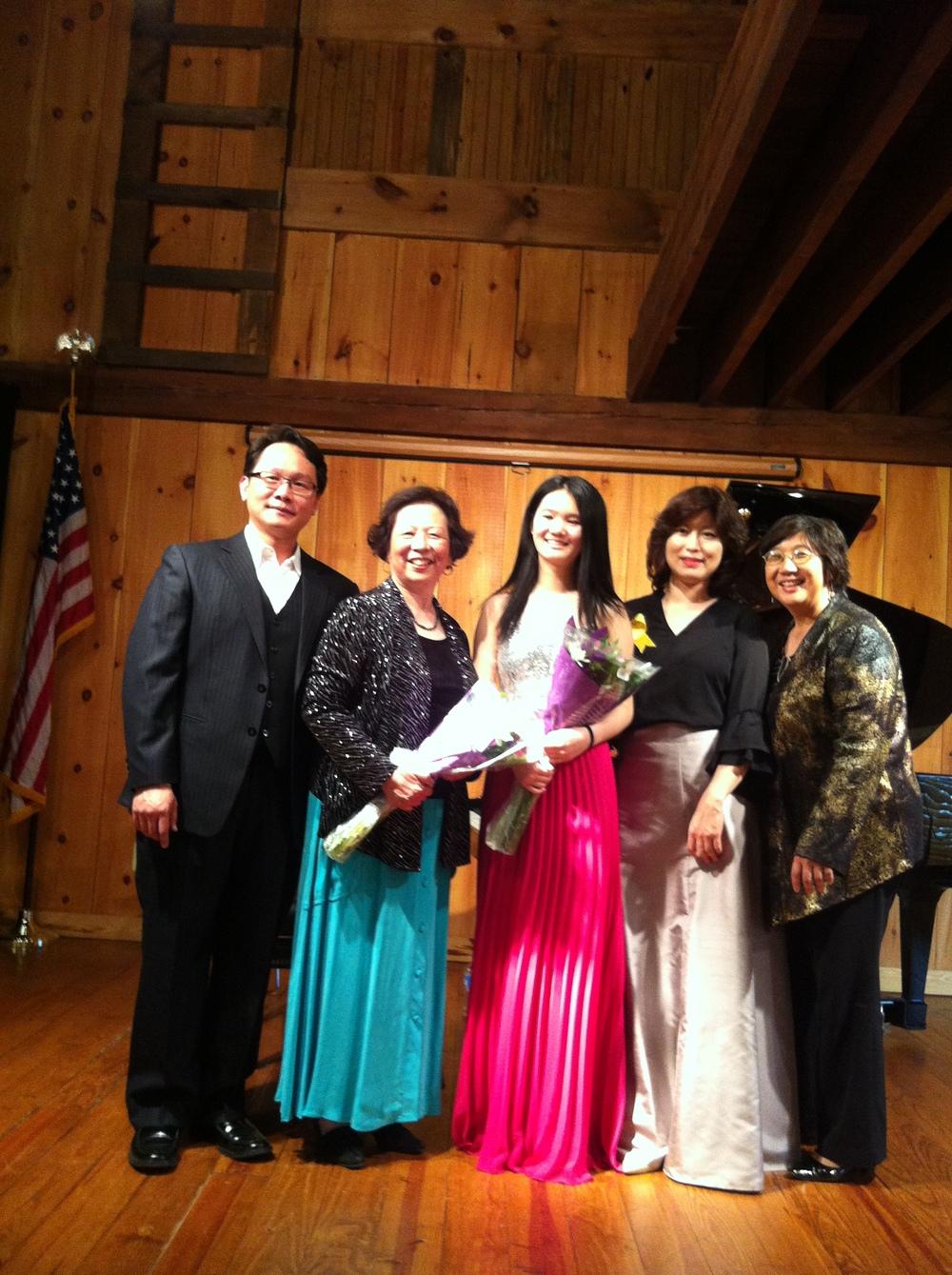 Kevin Tsai, Chiu-Ling Lin, Angela Zhao, Mira Kang, and music director Chiu-Tze Lin