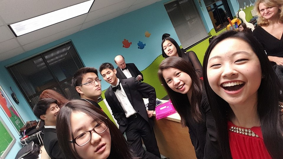 Katie Liu and members of the  Bravura Youth Orchestra !