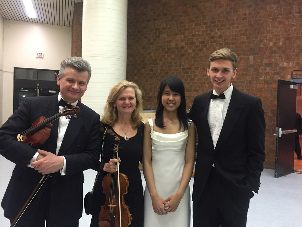 Kate with members of the orchestra