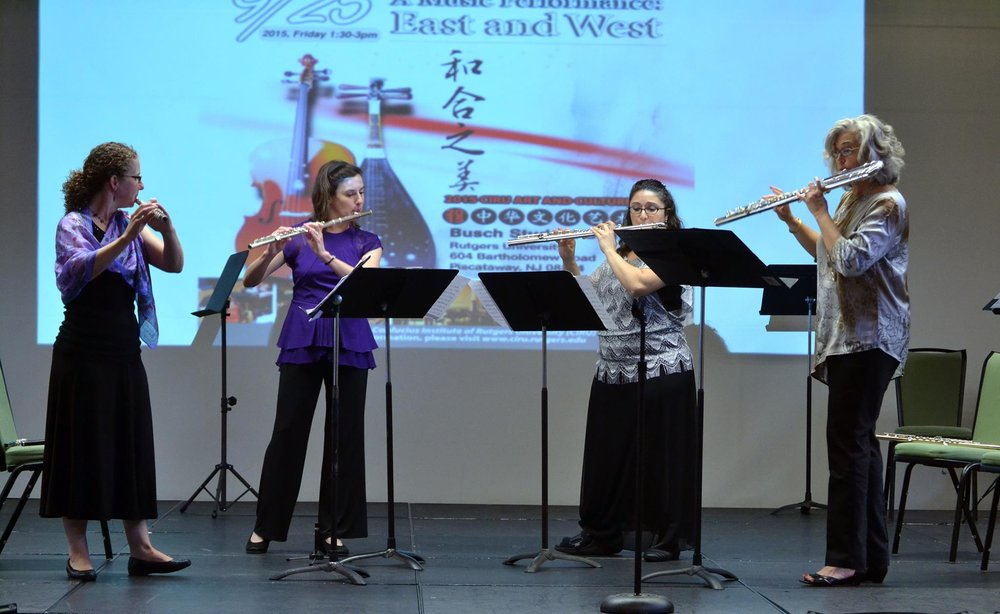 The Lyra Flute Quartet performing a culturally diverse program