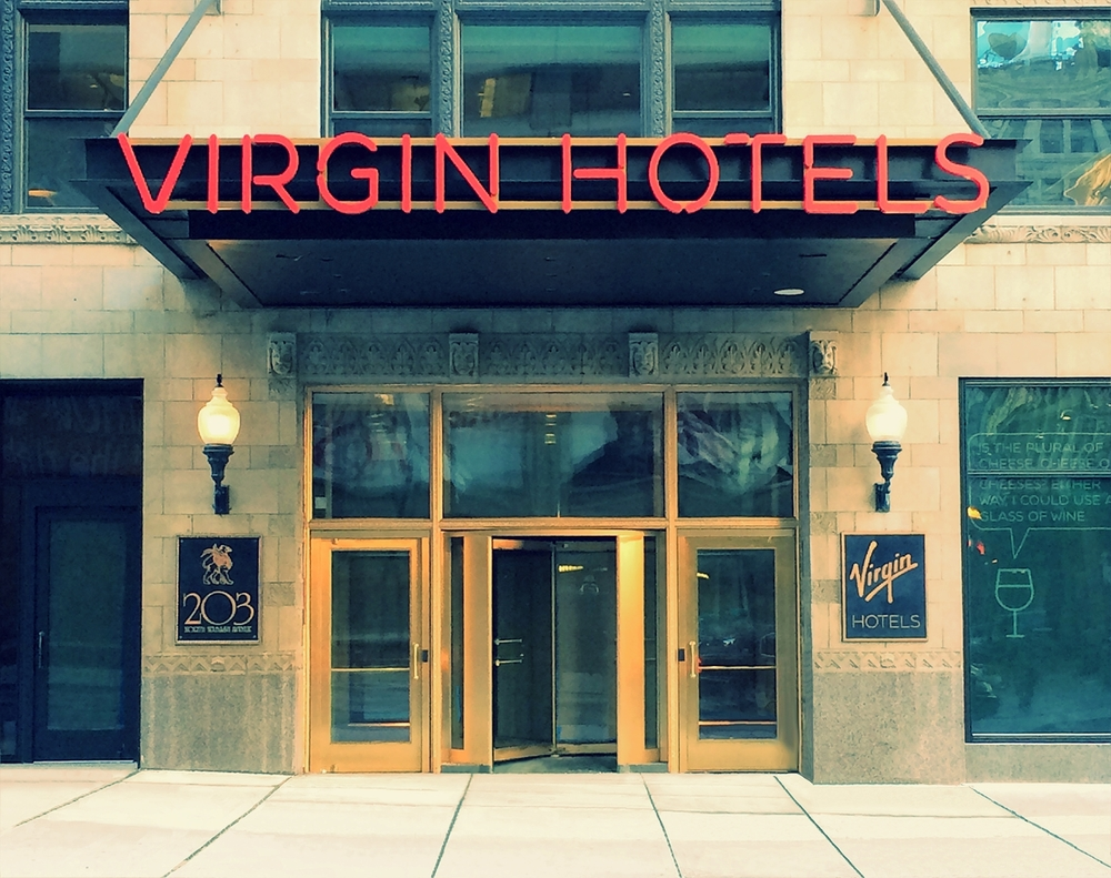 The beautiful newly opened Virgin Hotel Chicago, located at 203 N Wabash Ave, Chicago, IL‎