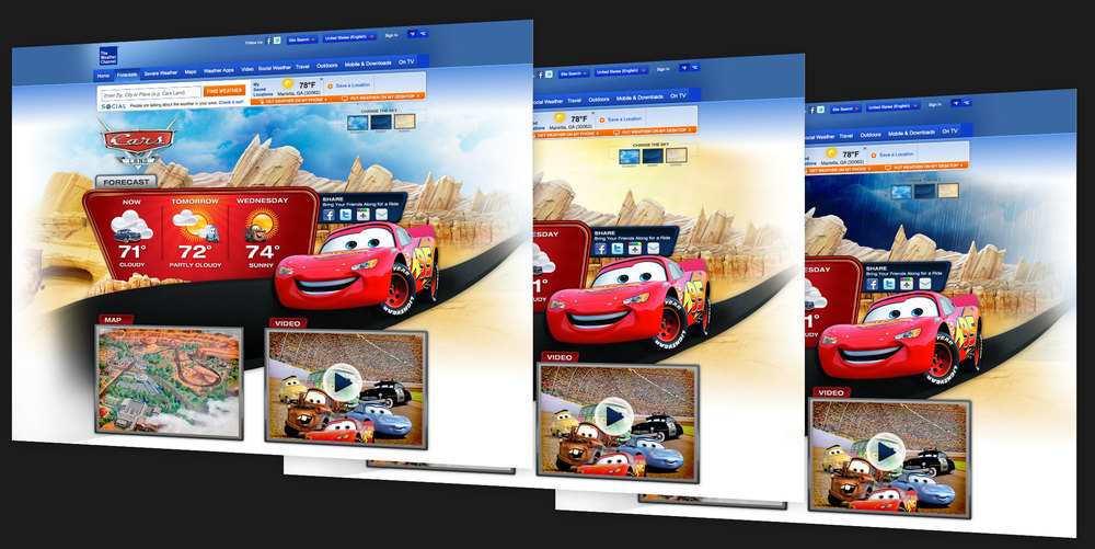 Mockups created for pitch to Disney agency