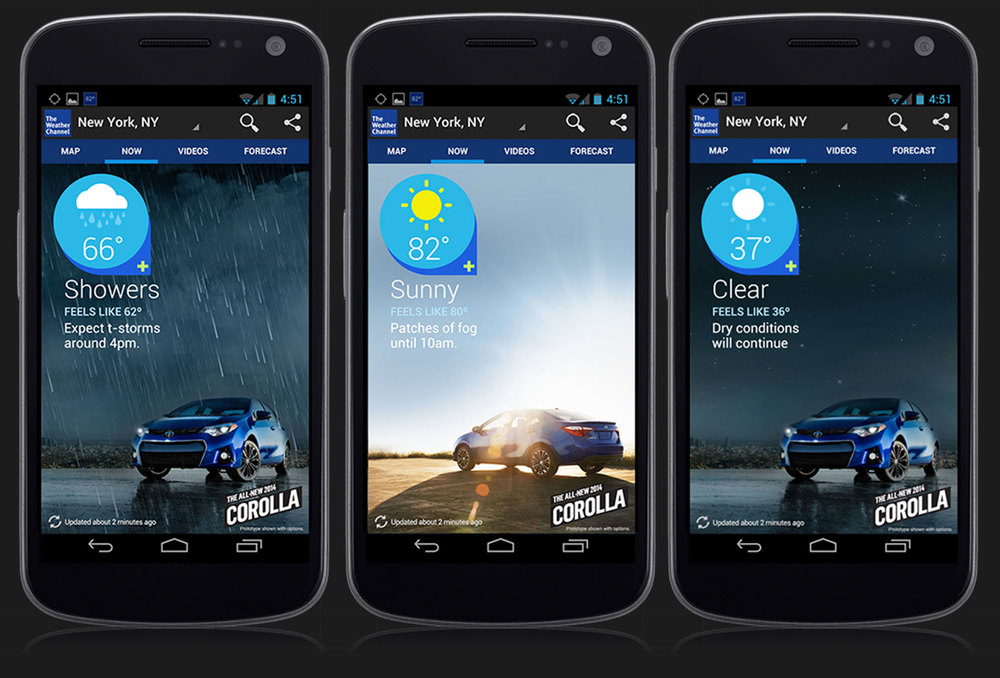 Toyota Corolla Android App Brand Integration