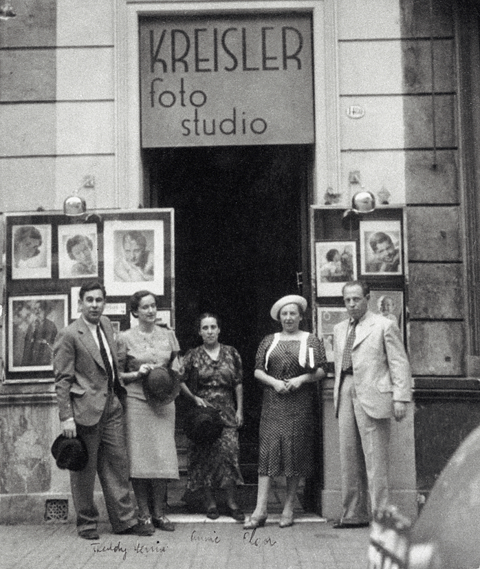 My grandfather Ernst Kreisler and his wife Annie with family outside the Kreisler business in Buenos Aires, early 1930s.