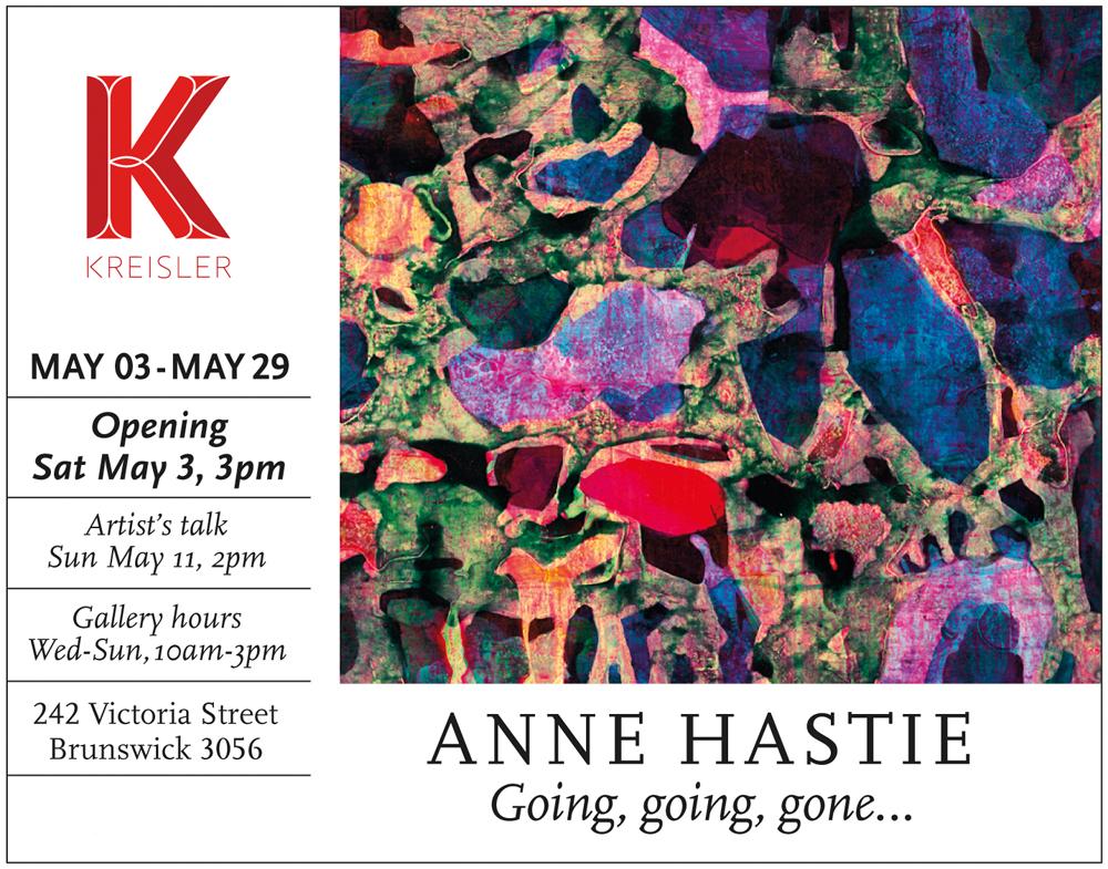 Invite to Going, going, gone..., Kreisler Gallery, 2014.
