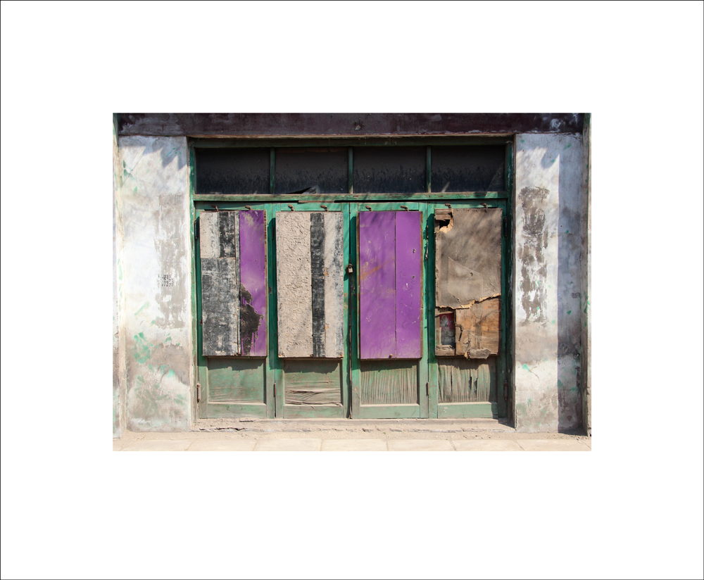 Photo Series: 'On The Street Of Ghosts', Purple Panels, 2014, Giclee Print on Archival Paper.