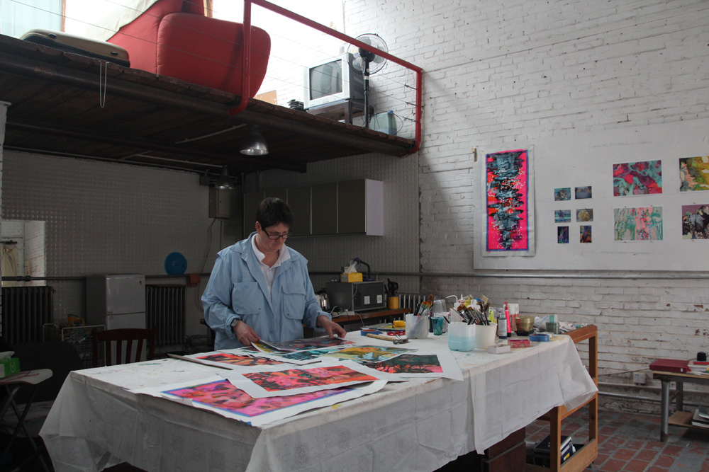 Anne Hastie in her Beijing Studio, March 2014.