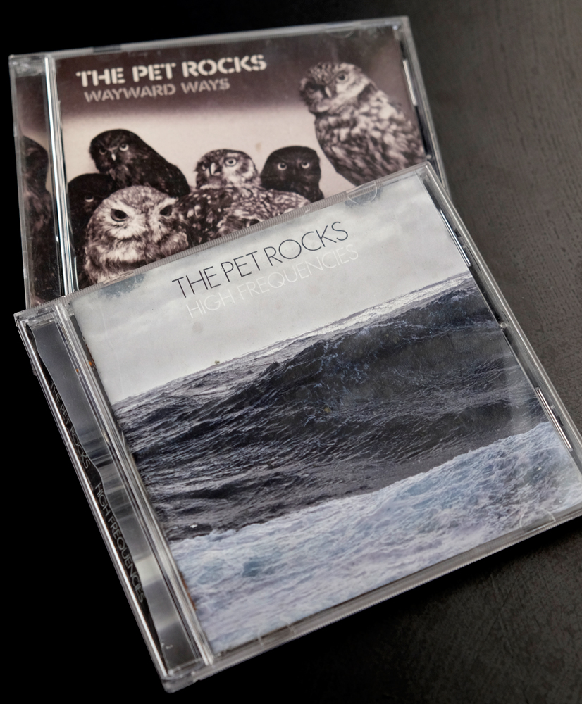 Pet Rocks compact discs: High Frequencies and Wayward Ways.