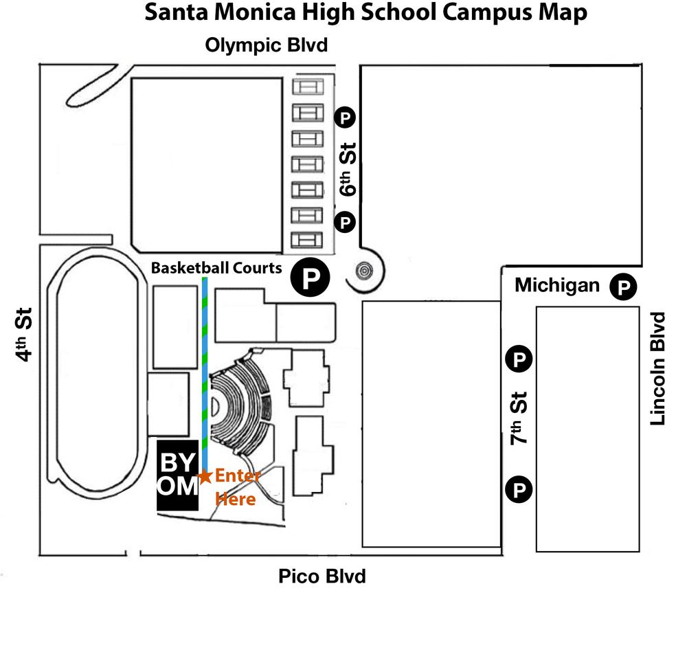 Santa Monica High School Map