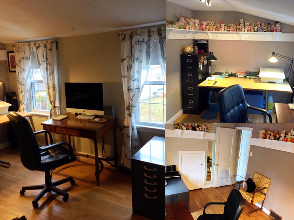 A few quick photos of my new workspace!