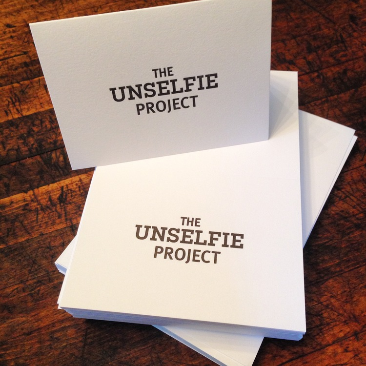 Letter Pressed Unselfie Gift Cards will make the perfect gift for your friends and loved ones!