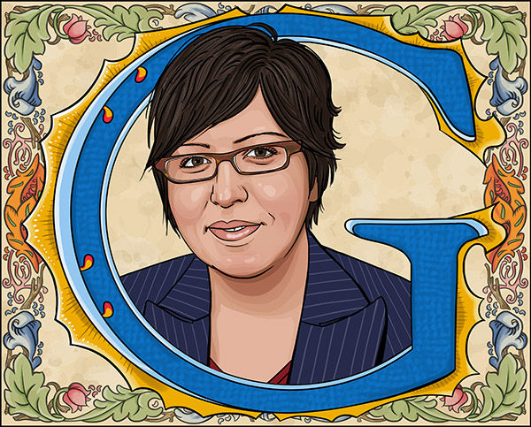 Cover Illustration: Gloria Casarez  - Civil rights activist and LGBT liaison to the Nutter administration in Philadelphia.
