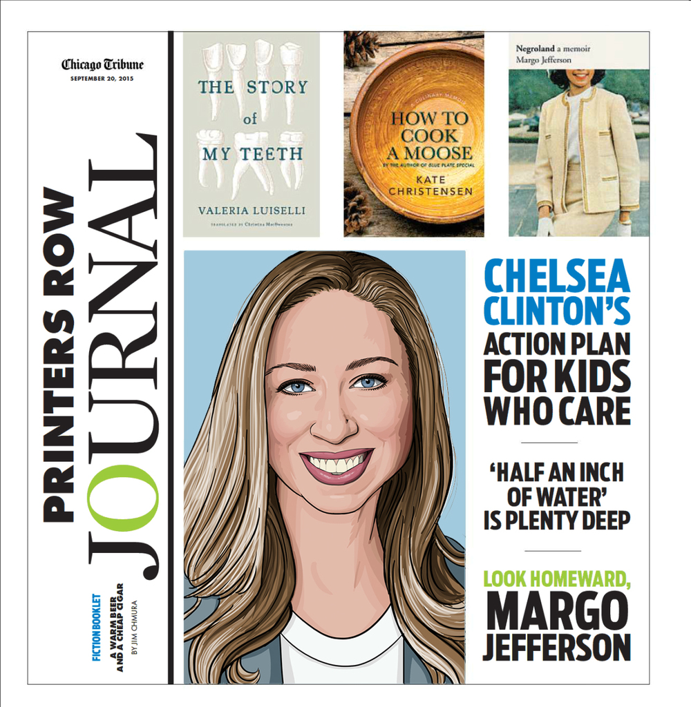 Chelsea Clinton portrait illustration for Chicago Tribune Printers Row Journal.