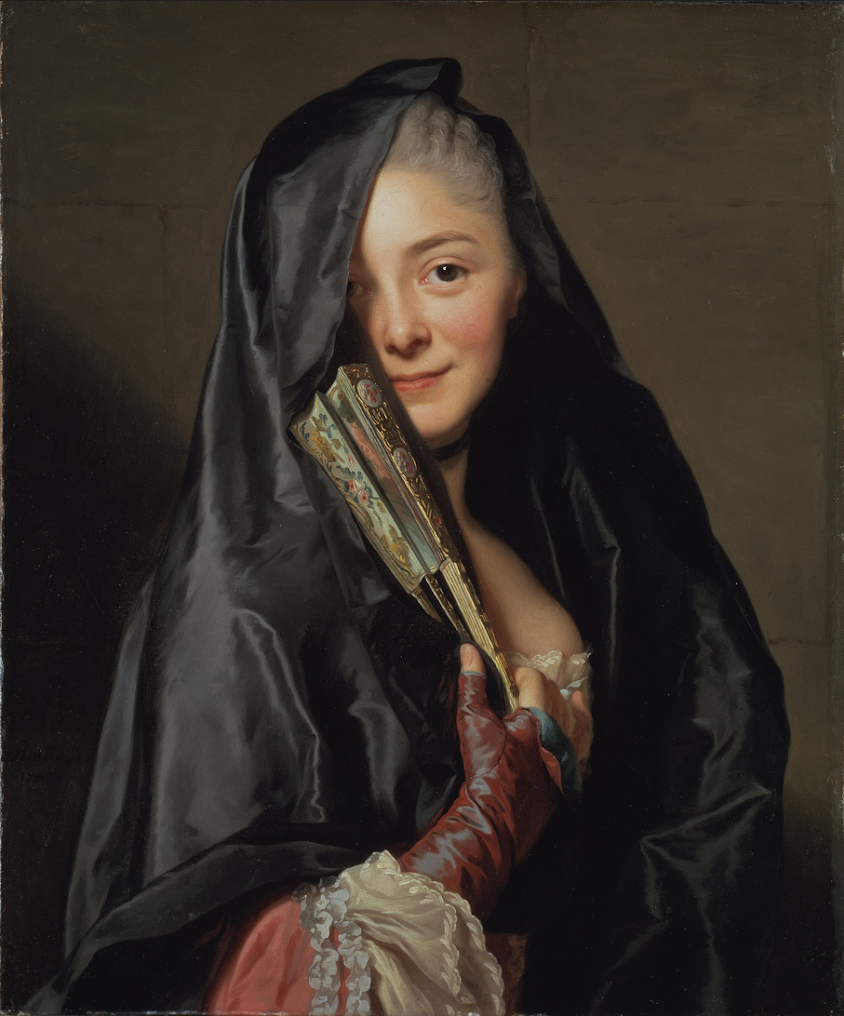 The Lady with the Veil - the Artist's Wife by Alexander Roslin b. 1718 – d. 1793