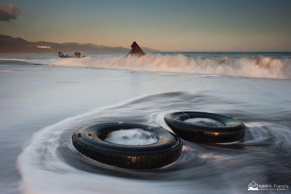 Tyres on the Beach