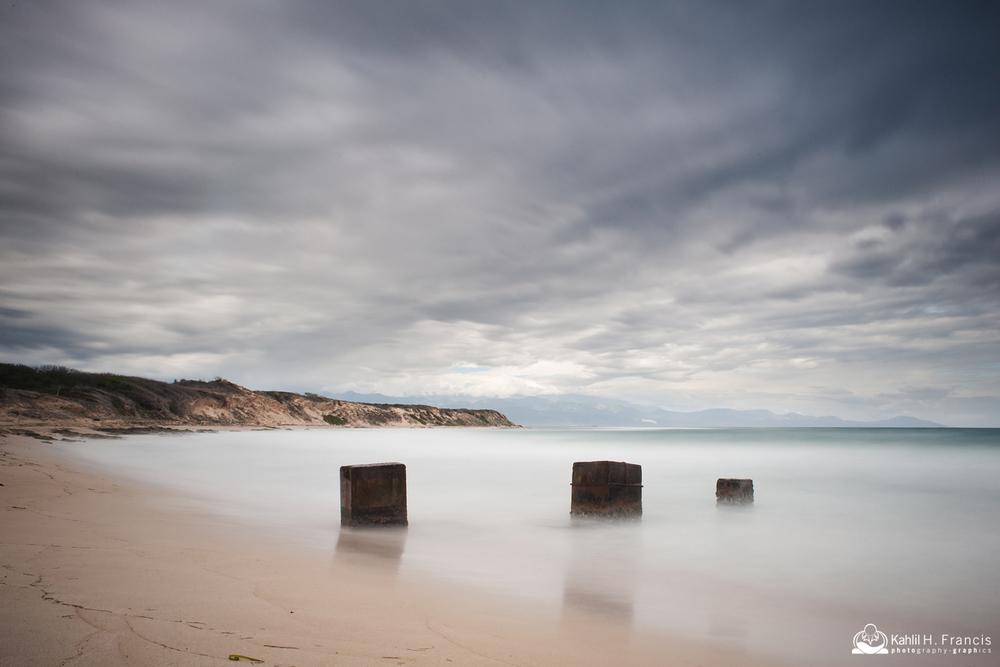 Three Columns in Tne Surf - Hellshire