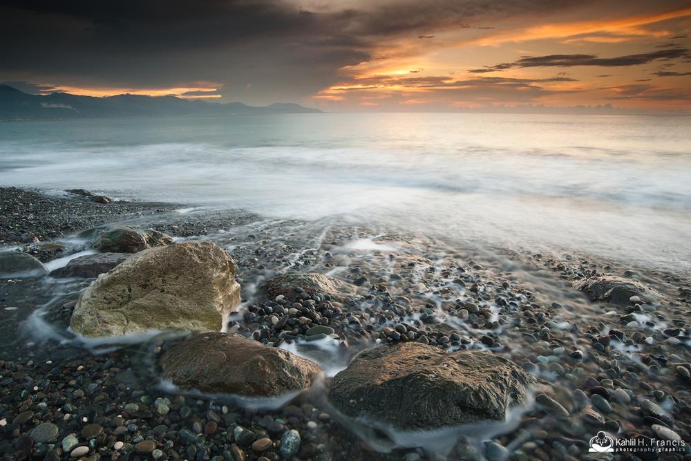 Rocks in Morning Surf