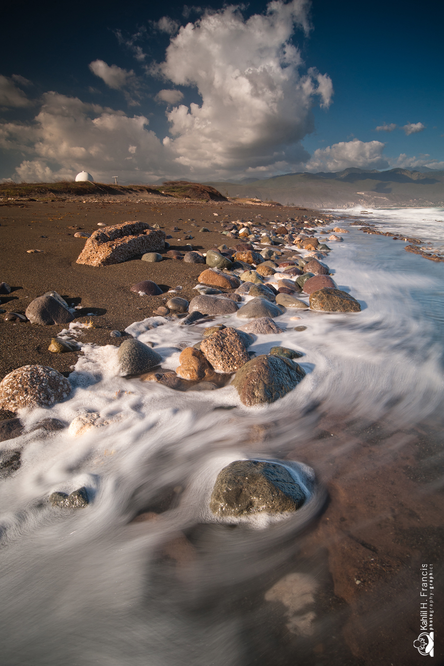 Swirling Foam and Rocks