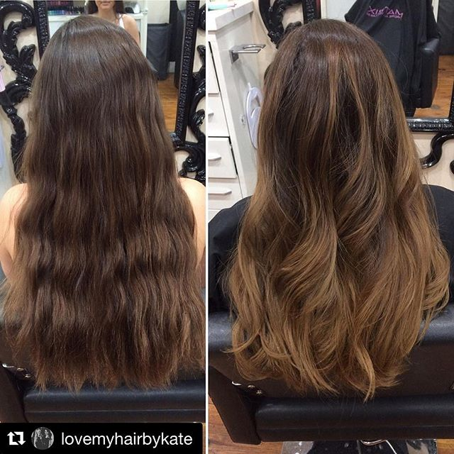 #Repost @lovemyhairbykate with @repostapp ・・・ Another balayaged beauty by @lovemyhairbykate