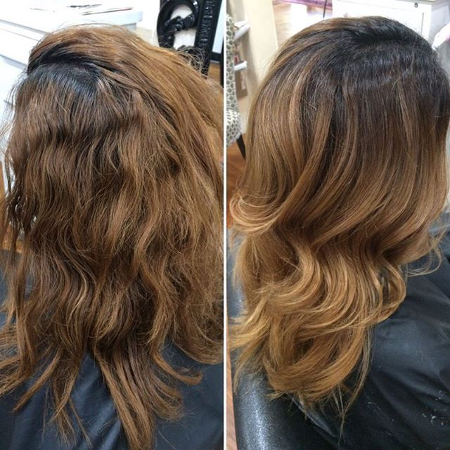 Oh la laaa! My client wanted to be able to grow out her natural color while still enjoying pretty hair, so this was the result!  #bronde #blondehair #blonde #phoenixstylist #phoenix #salon #phoenixsalon #camelback #salonstudio #hair #highlight #schwarzkopf #olaplex #blondme #nofilter #behindthechair #redkenshadeseq  by @lovemyhairbykate
